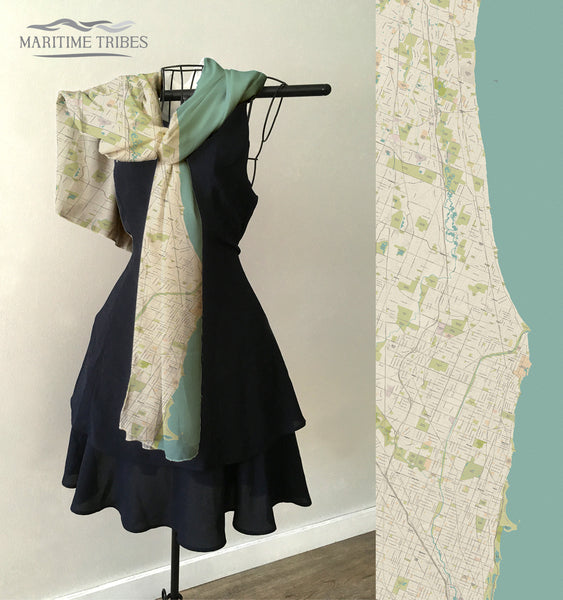 Winnetka Map Scarf