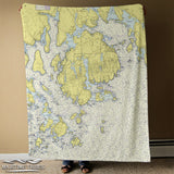 Mt. Desert Island, ME Nautical Chart Blanket