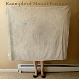 Mount Rushmore map blanket