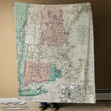 New England Antique Map Blanket