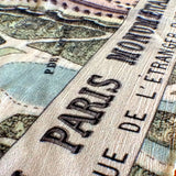 Paris Vintage Birdseye Map Scarf