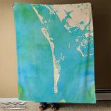Boca Grande / Gasparilla Watercolor Map Blanket