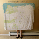 San Francisco map blanket