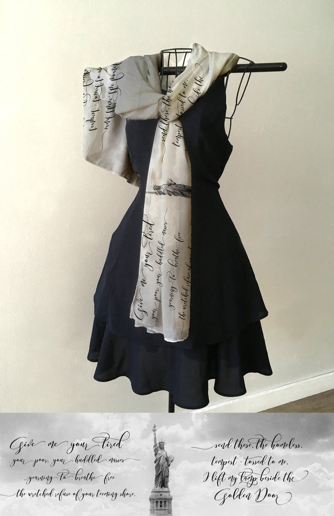 Statue of Liberty with Quote Scarf