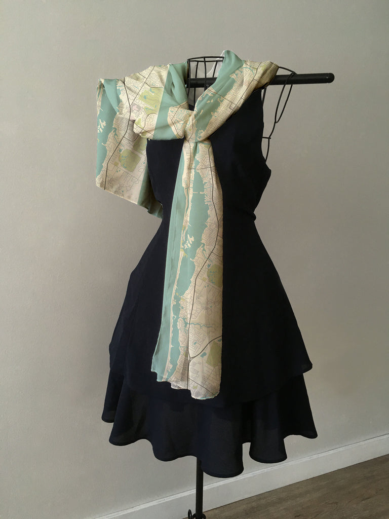 Sarasota Sea Glass Map Scarf