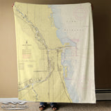 Chicago, IL Nautical Chart Blanket
