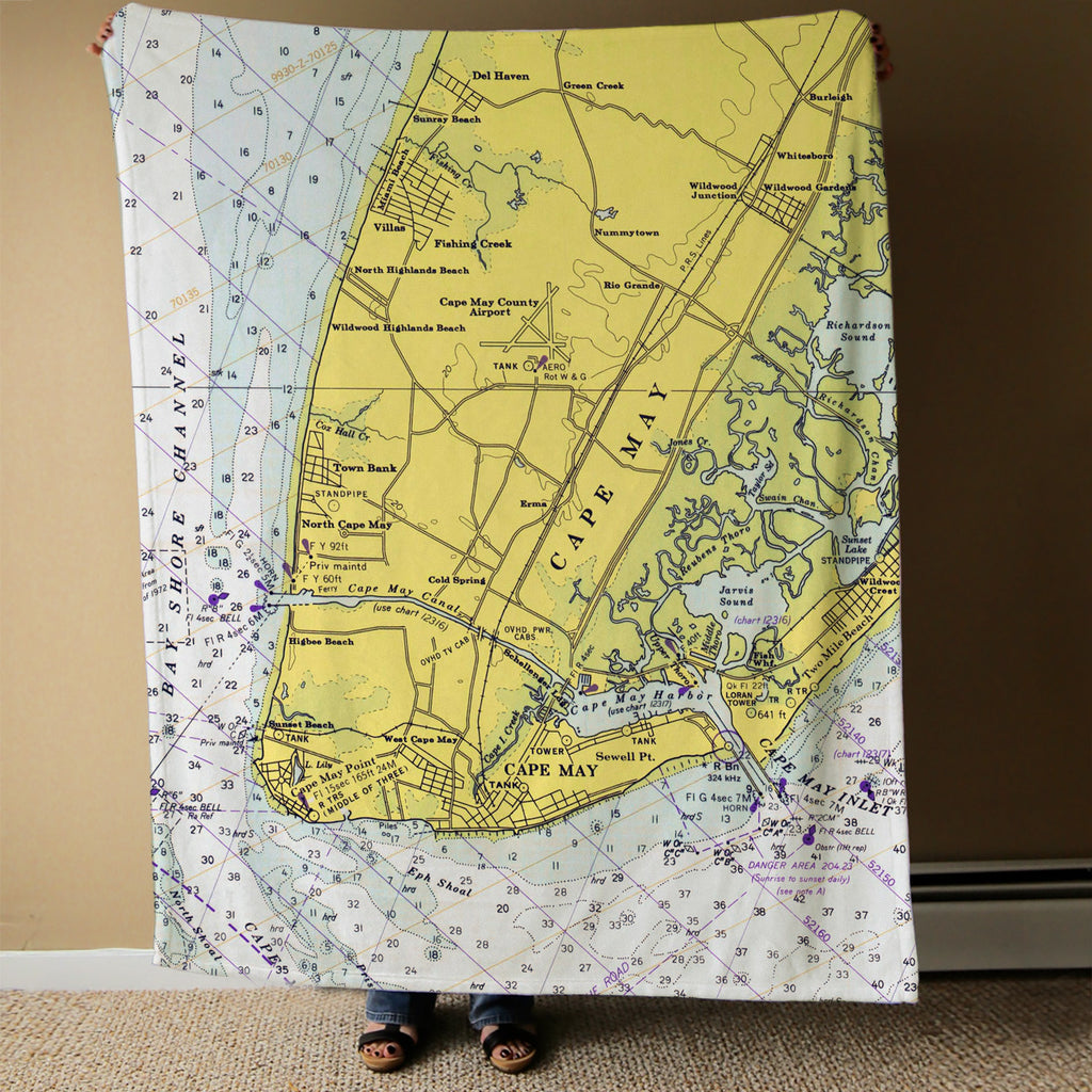 Cape May Chart Blanket Blanket