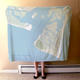 Bald Head Island terrain map Blanket