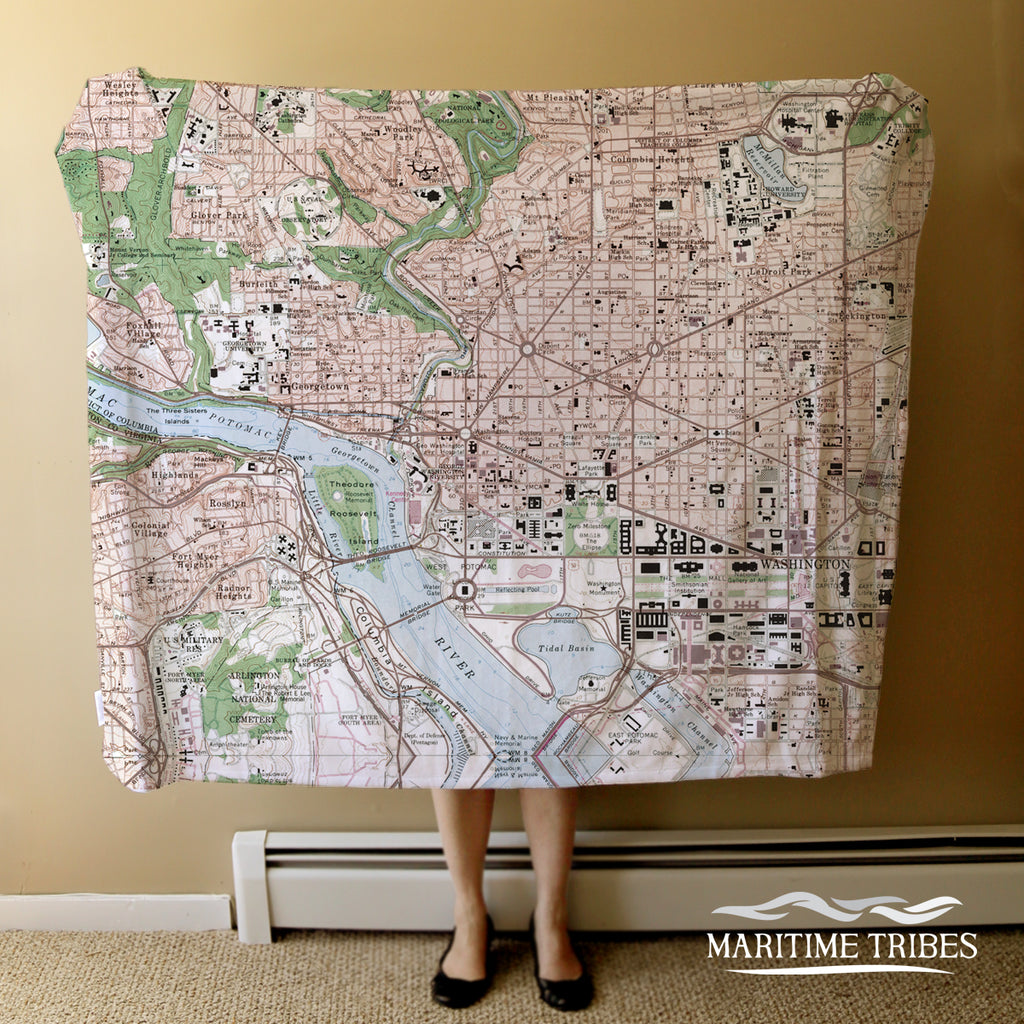 Washington D.C. Map Blanket
