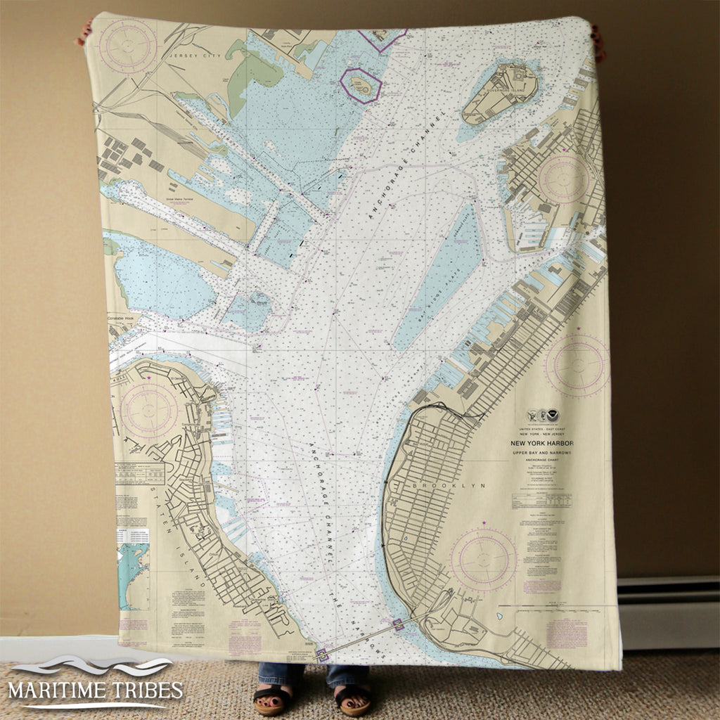 New York Harbor -Upper Bay and Narrows Chart (2013) Blanket