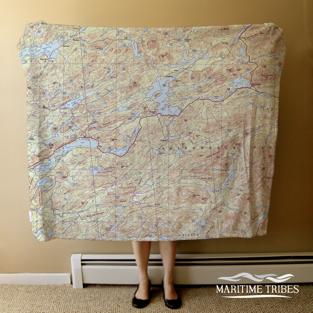 Old Forge - Blue Mountain, NY Topo Blanket