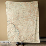 Vail CO Vintage Map Blanket