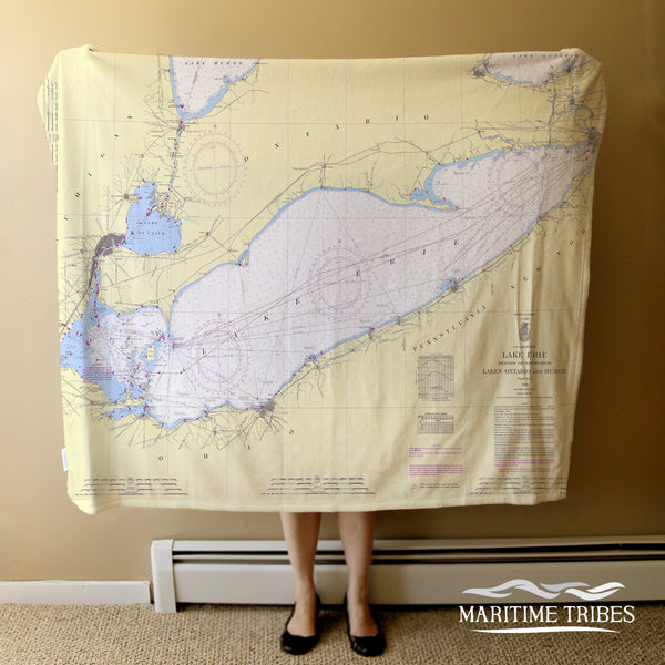 Lake Erie Map Blanket