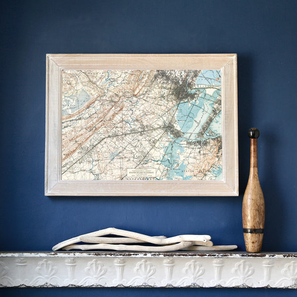 Maplewood, NJ Vintage Topo Framed Map