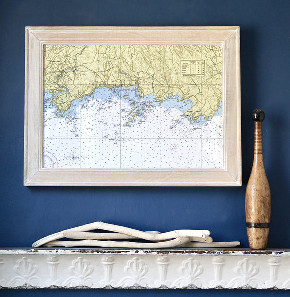 Thimble Islands Framed Map