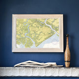 Edisto Island Framed Map
