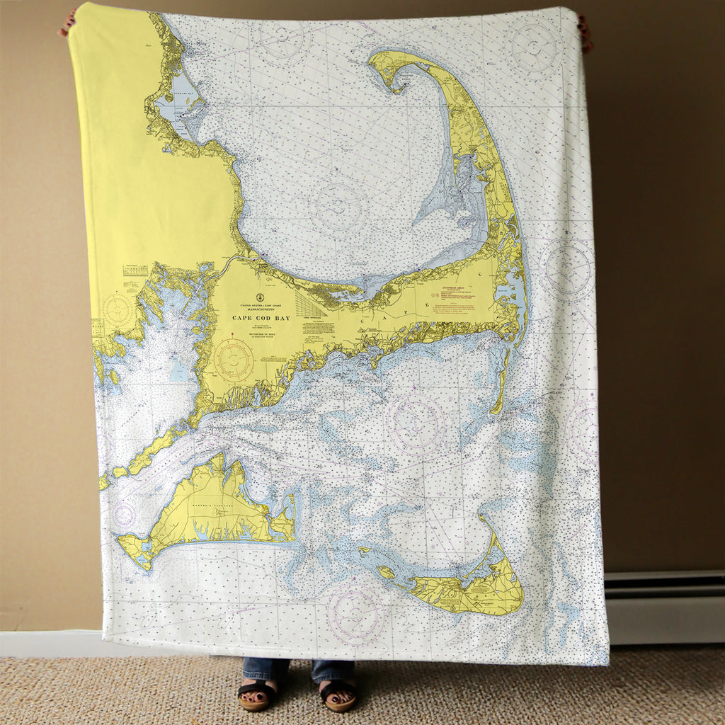 Cape Cod & the Islands Chart Blanket