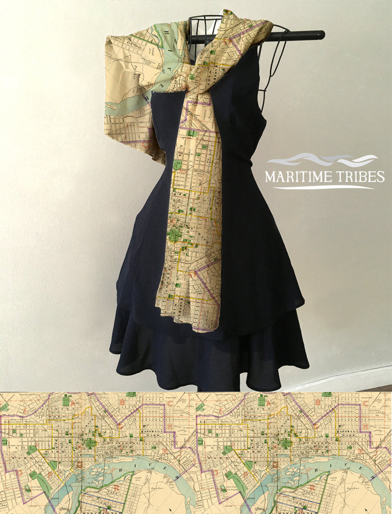 Richmond, VA Vintage Map Scarf