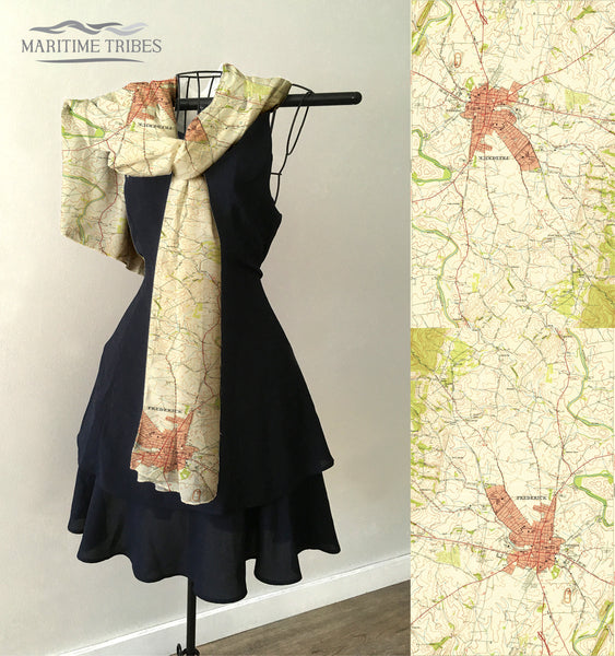 Frederick MD Vintage Topo Map Scarf