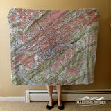 Knoxville, TN Topo Map Blanket