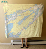 Clayton to Alexandria Bay, NY Nautical Chart Blanket