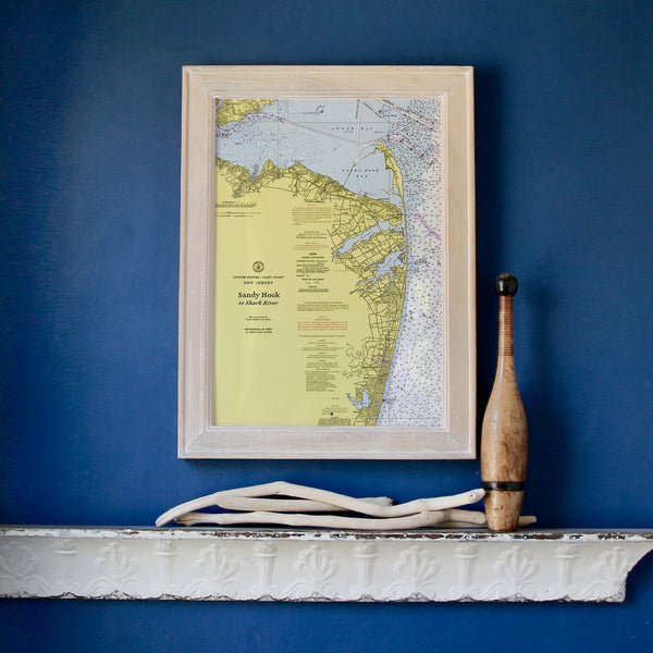 Sandy Hook to Manasquan Framed Map