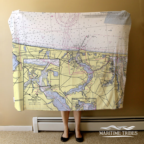Manasquan Inlet, NJ Nautical Chart Blanket
