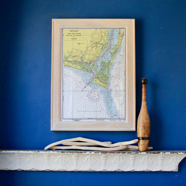 Bald Head Island to Wilmington Framed Map