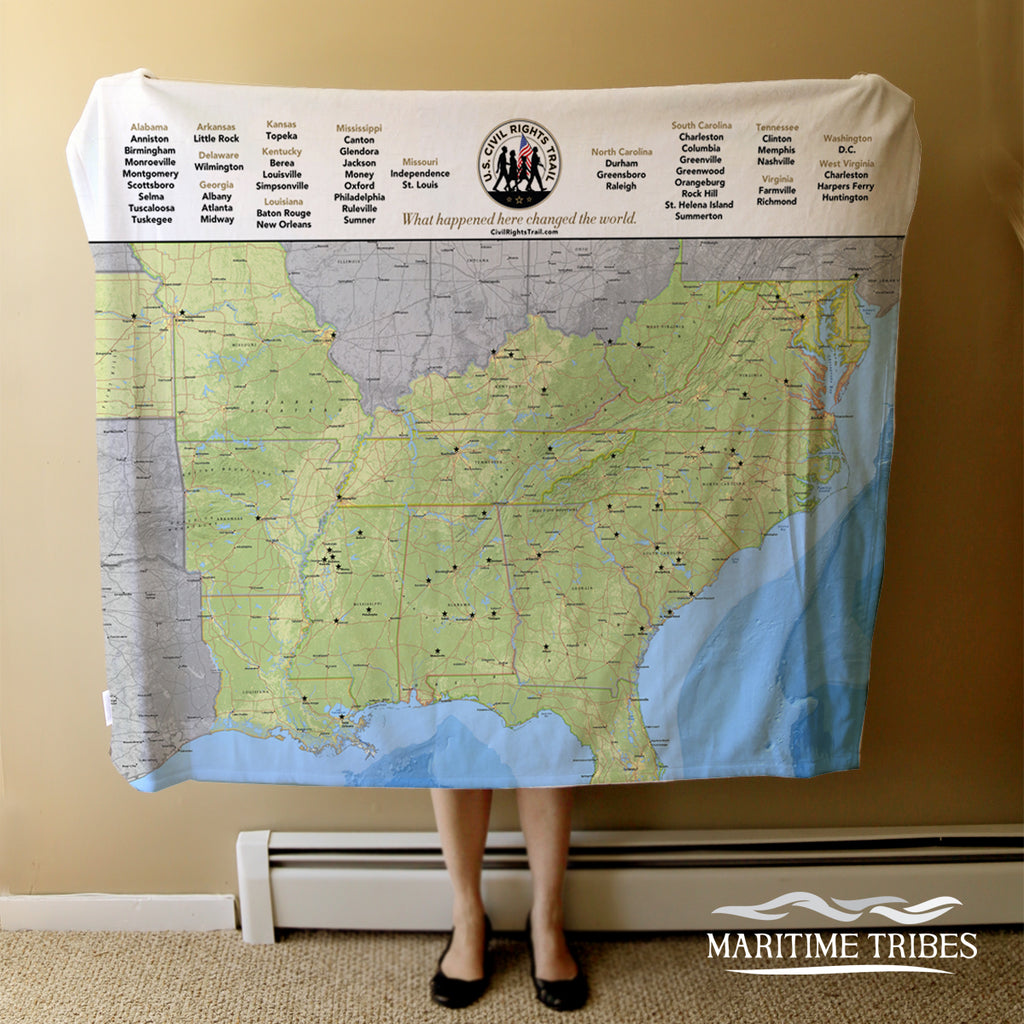 Civil Rights Trail Map BLANKET Blanket