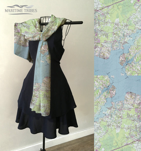 Suffolk, VA TOPO Map Scarf