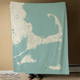 Cape Cod & the Islands Sea Glass Map Blanket