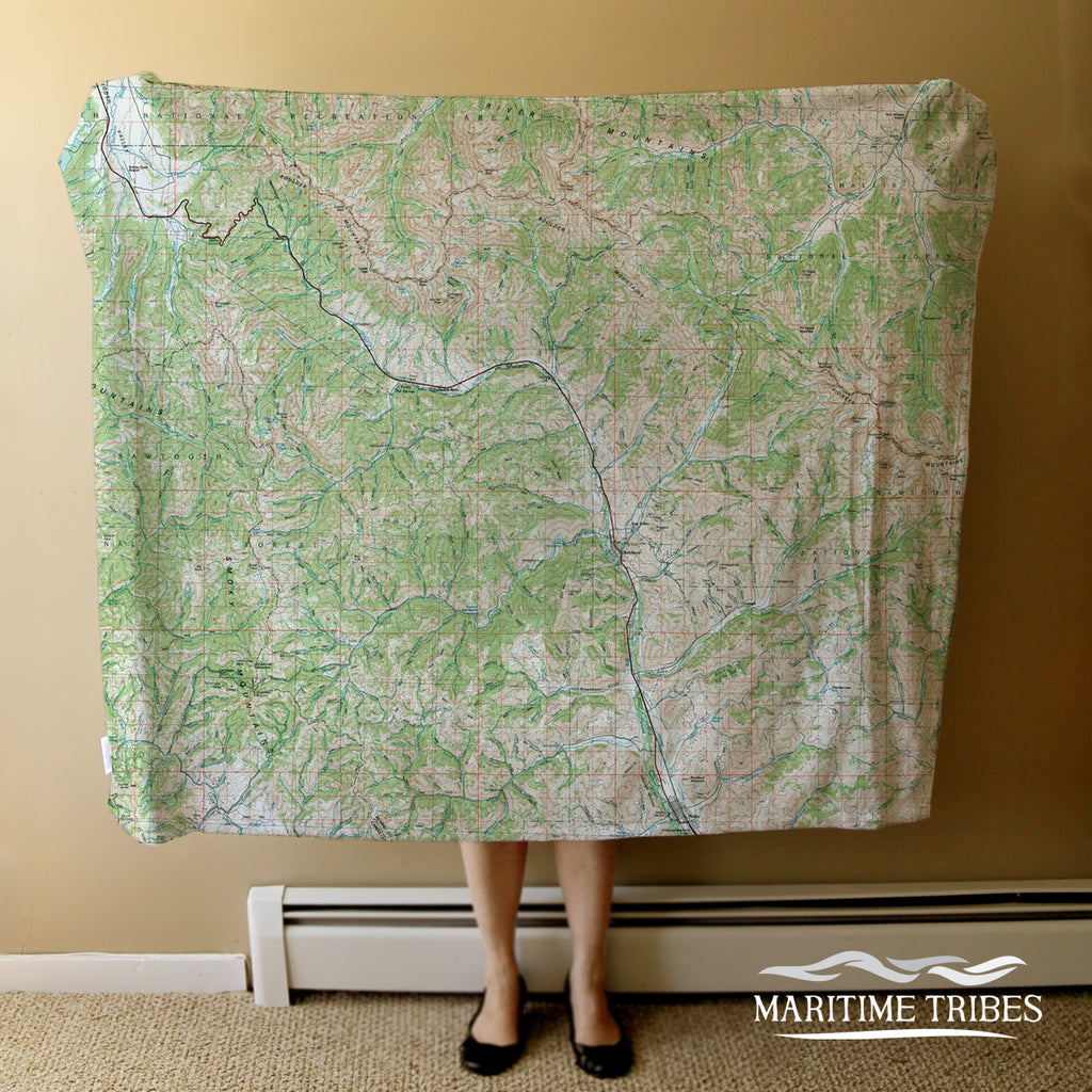 Sun Valley, ID vintage Topo Map, 1992 Blanket