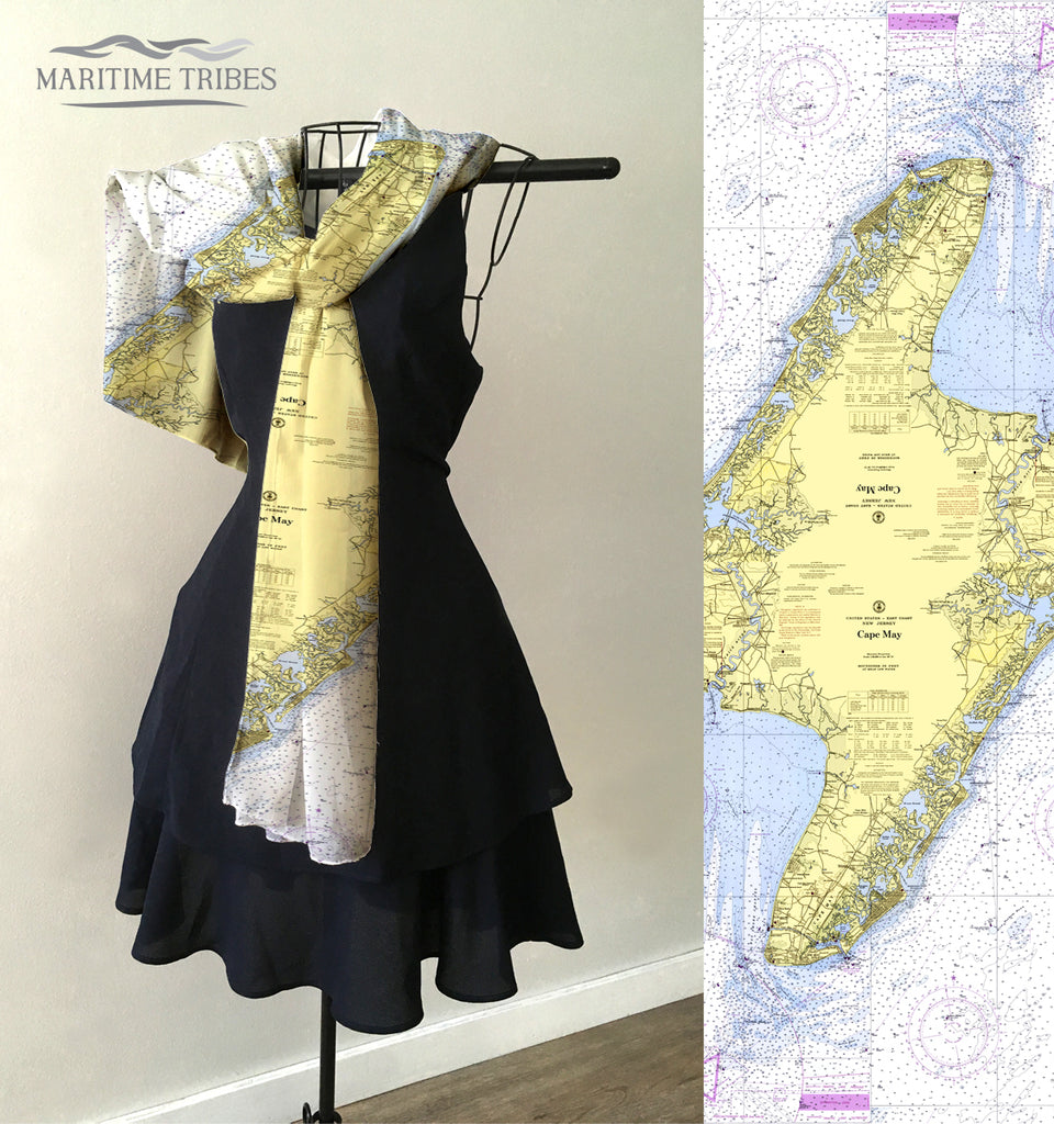 Cape May Chart Scarf