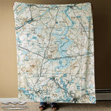 Sudbury MA Antique Map Blanket