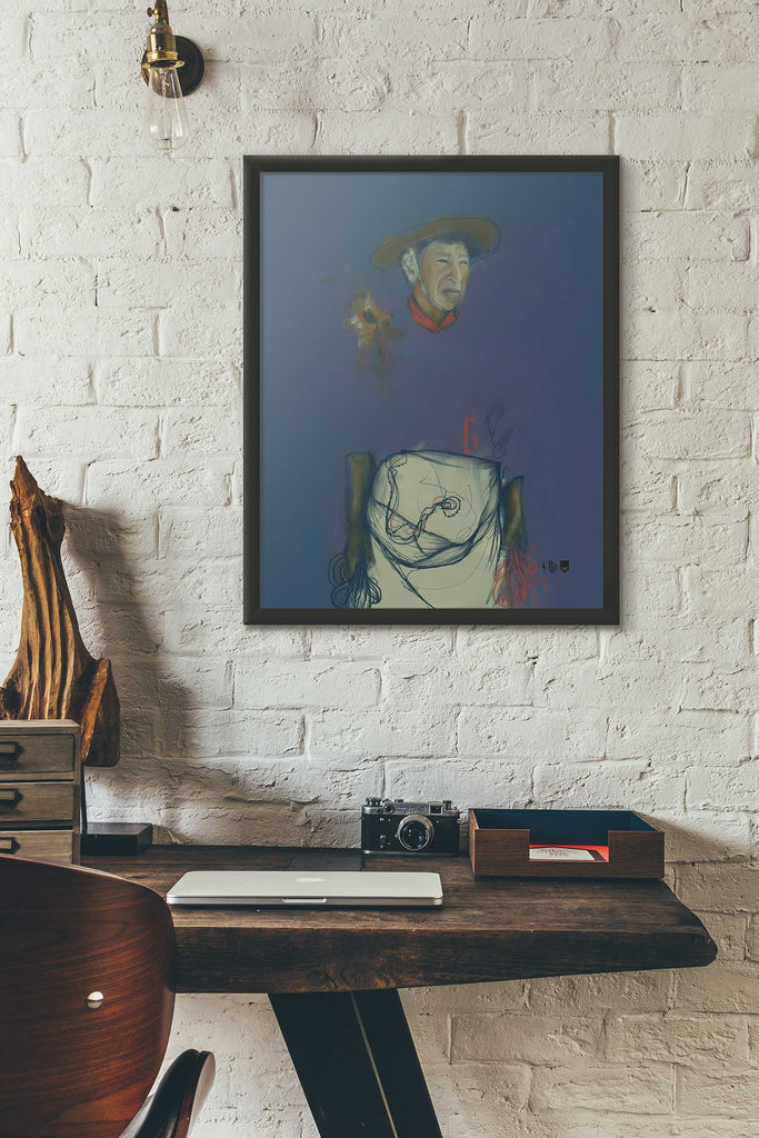 Gaucho Open Edition Print framed and hung