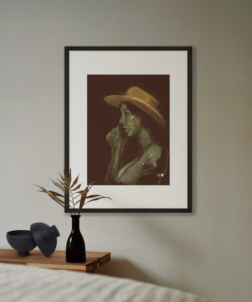 It's A Cowboy Hat Open Edition Print framed and hung