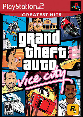 Grand Theft Auto: Vice City [Greatest Hits] (Sony PlayStation 2, 2005) Complete