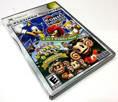 Platinum Family Hits: Sonic Heroes & Super Monkey Ball Deluxe  (Microsoft Xbox, 2005)