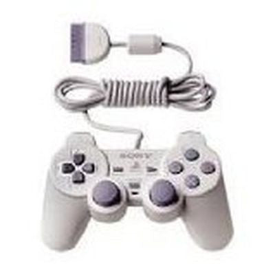 Sony Playstation 1 White Controller Gamepad Wired PSone Dual Shock (SCPH-110)