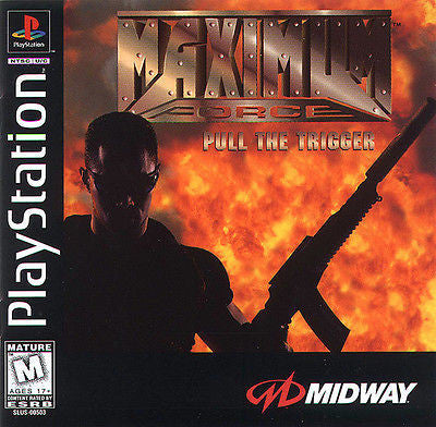 Maximum Force (Sony PlayStation 1, 1997) With Madcatz Blaster Gun