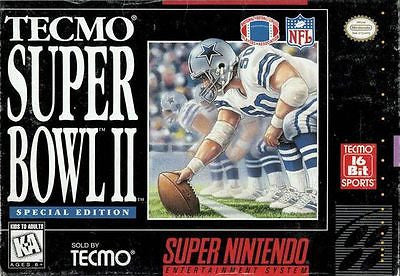 Tecmo Super Bowl II 2 Special Edition  (Super Nintendo, 1994)
