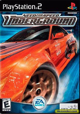Need for Speed: Underground [Black Label] (Sony PlayStation 2, 2003) Complete