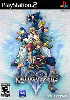 Kingdom Hearts II  [Black Label] (Sony PlayStation 2, 2006) Complete