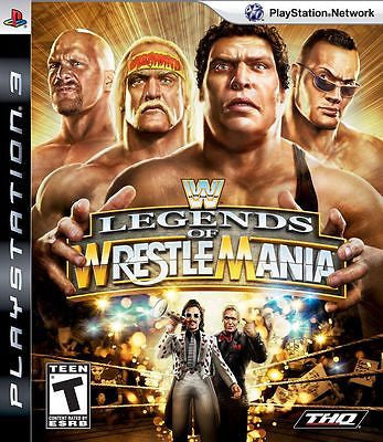 WWE Legends of WrestleMania  (Playstation 3, 2009) Complete
