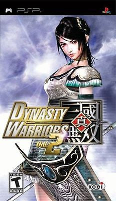 Dynasty Warriors Vol. 2  (PlayStation Portable, 2006) Complete