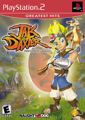 Jak and Daxter: The Precursor Legacy [Greatest Hits] (Sony PlayStation 2, 2001) Disc Only
