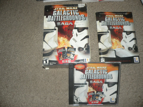 Star Wars: Galactic Battlegrounds Saga (PC, 2002) Complete