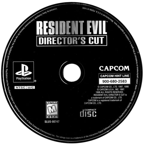 Resident Evil Director's Cut (Sony PlayStation 1, 1998) Greatest Hits