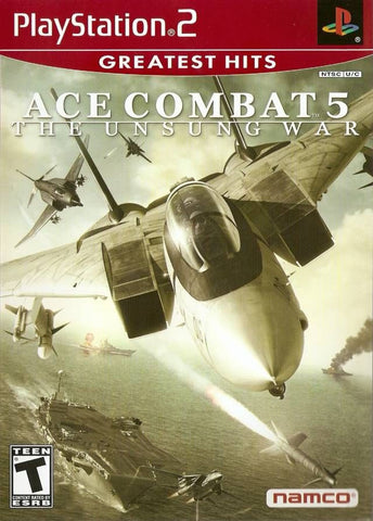 Ace Combat 5: The Unsung War (Sony PlayStation 2, 2004) Greatest Hits Complete