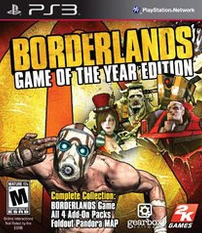 Borderlands: Game of the Year Edition  (PlayStation 3, 2010)